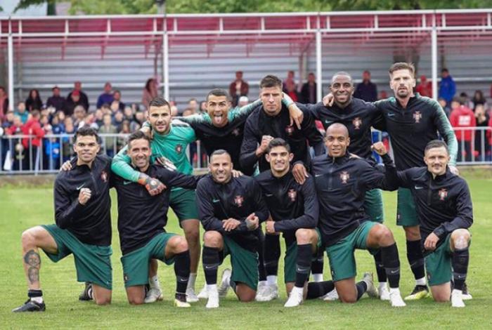 Sele��o portuguesa faz primeiro treino na R�ssia