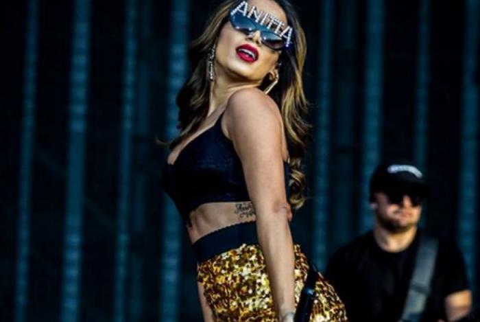 Anitta no palco do Rock In Rio Lisboa