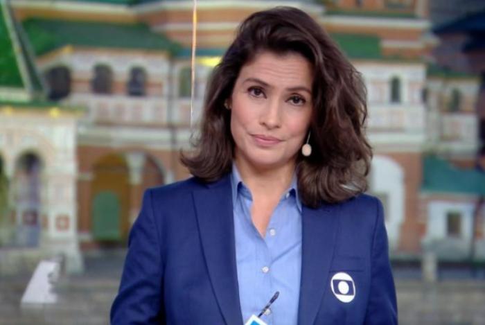 renata Vasconcellos fala sobre revista no estúdio Globo pela polícia russa