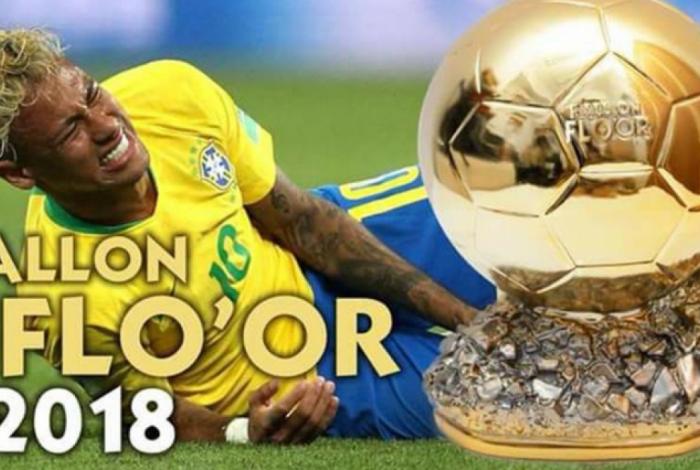 Memes de Neymar 'caindo' viralizam no mundo inteiro