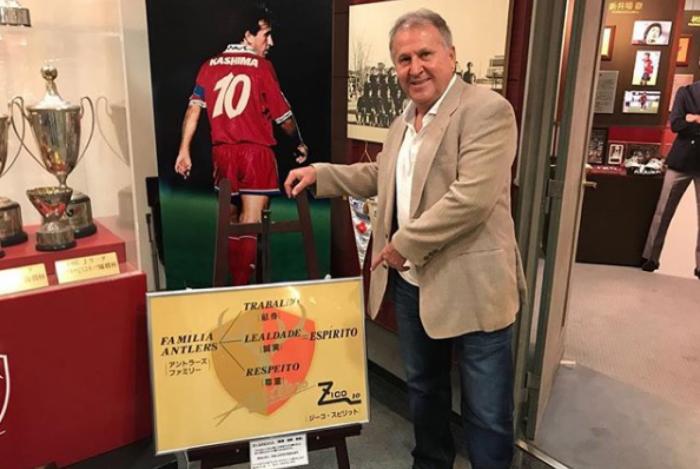 De volta! Zico assina com o Kashima Antlers do Japão, como diretor técnico Galinho usou sua conta no Instagram para divulgar o retorno