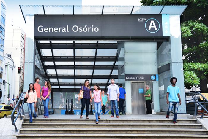 Estação General Osório, em Ipanema, na Zona Sul do Rio
