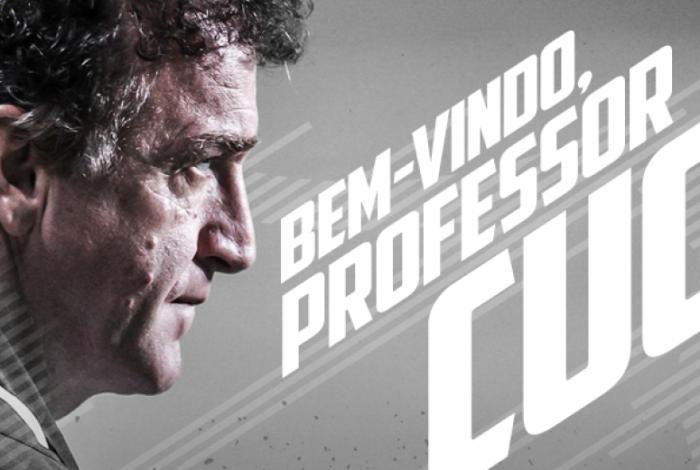 Ex-Palmeiras, Cuca foi anunciado como novo técnico do Santos