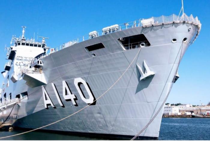 O Porta-Helicóptero Atlântico foi incorporado à Marinha no dia 29 de junho, no Reino Unido