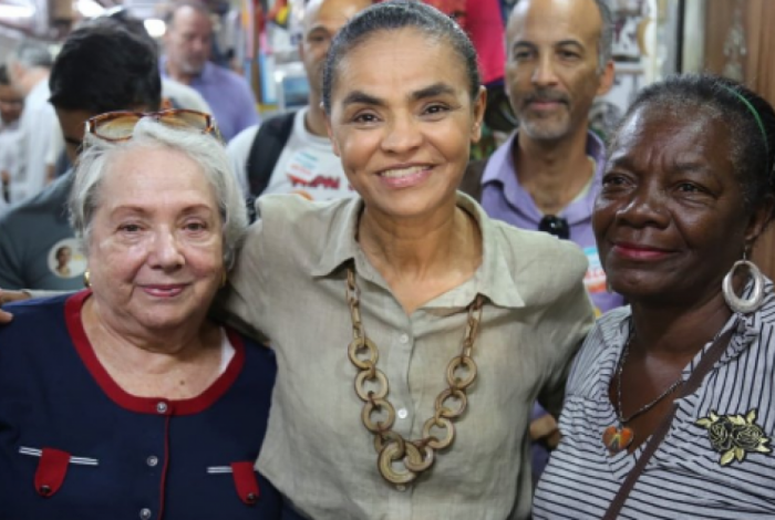 Marina Silva em visita ao Mercado Central de Belo Horizonte