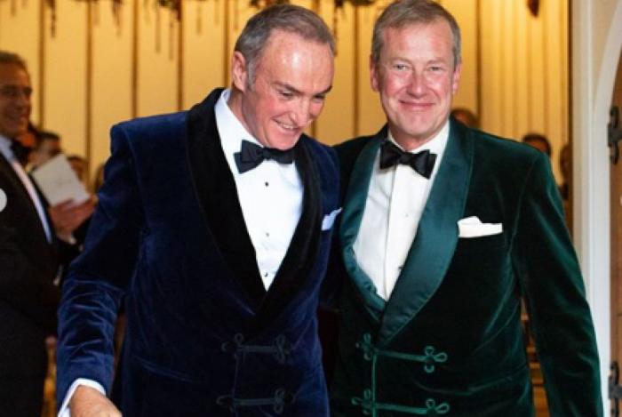 Lorde Ivar Mountbatten e James Coyle, primeiros da família real britânica a realizarem uma união entre pessoas do mesmo sexo