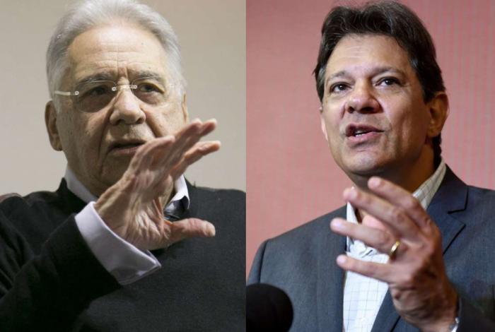 Haddad telefonou para FHC e falou de riscos trazidos por retórica de Bolsonaro