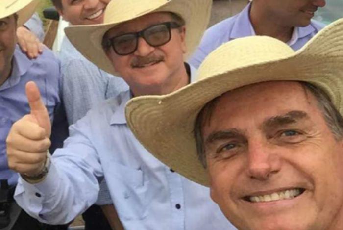 Nabhan Garcia e Jair Bolsonaro