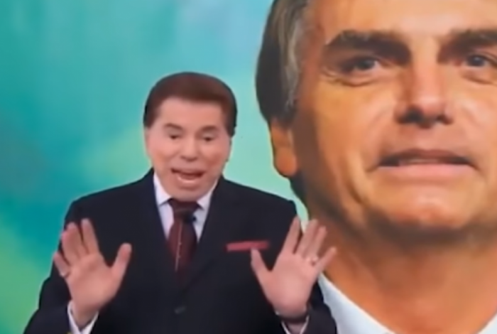 Silvio Santos conversa com Bolsonaro durante Teleton