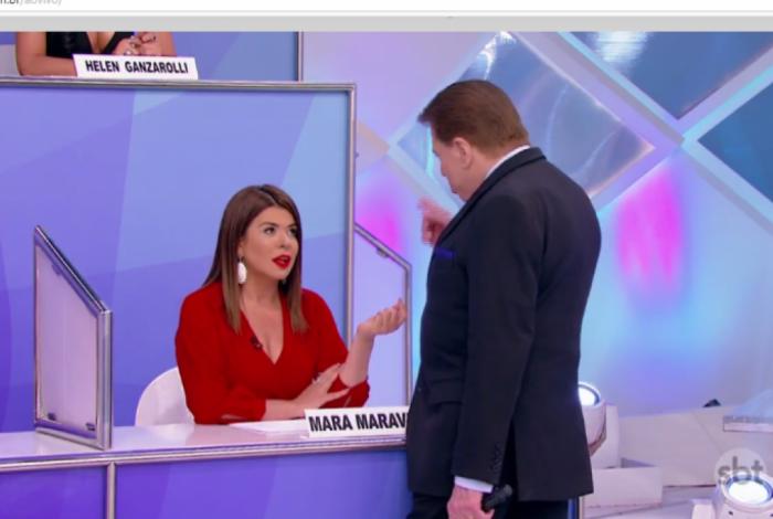 Silvio Santos alfineta Mara Maravilha