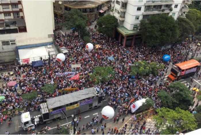 Protesto contra a reforma da Previdência em SP.