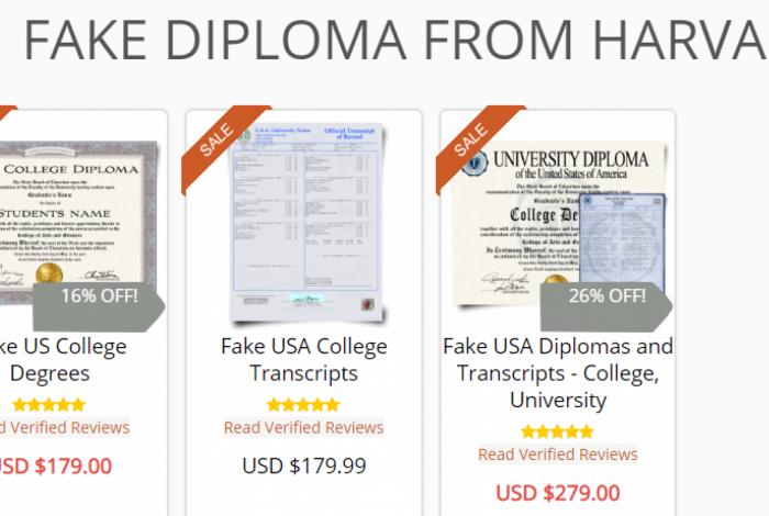 Venda de diplomas falsos na internet