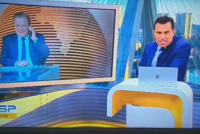 Chico Pinheiro e Rodrigo Bocardi conversam ao vivo pelo telefone