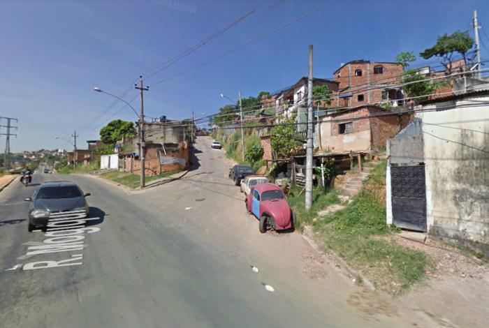Entrada da Rua Curumim, no Complexo do Chapadão