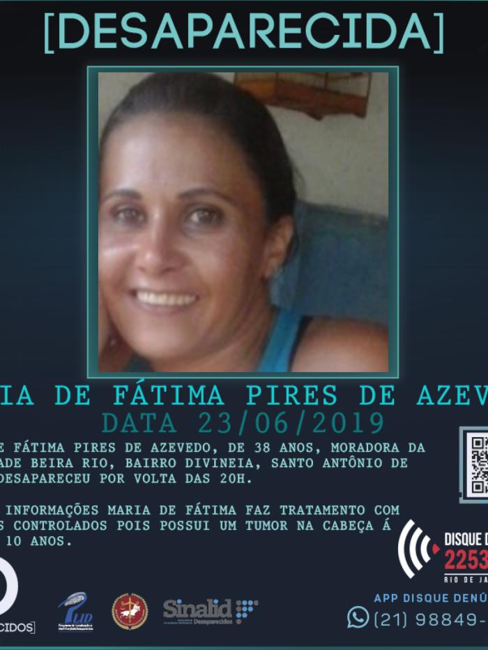 Maria de Fátima desaparecida desde o dia 23 de junho