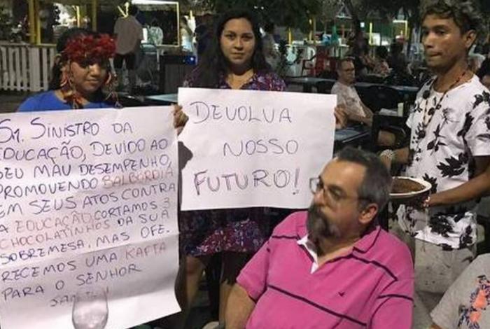 Abraham Weintraub foi alvo de manifestações no Pará