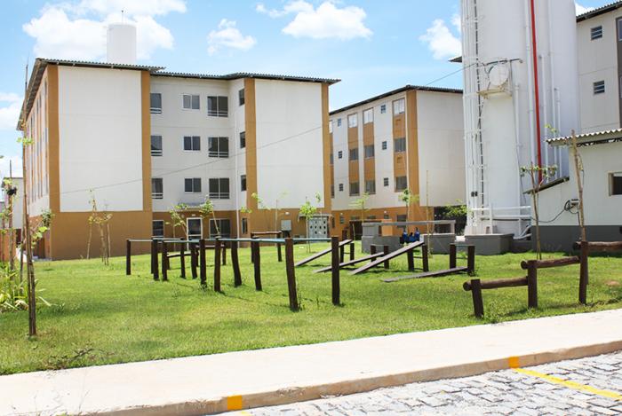 O empreendimento Parque Guandu, no bairro Jardim Guandu, faz parte do programa Minha Casa, Minha Vida