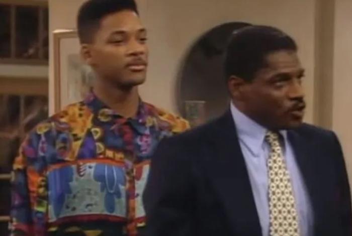 O ator em cena com Will Smith na série 'Um Maluco no Pedaço'