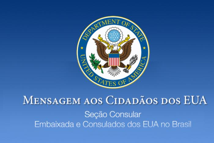 Embaixada dos EUA pede retorno imediato de norte-americanos