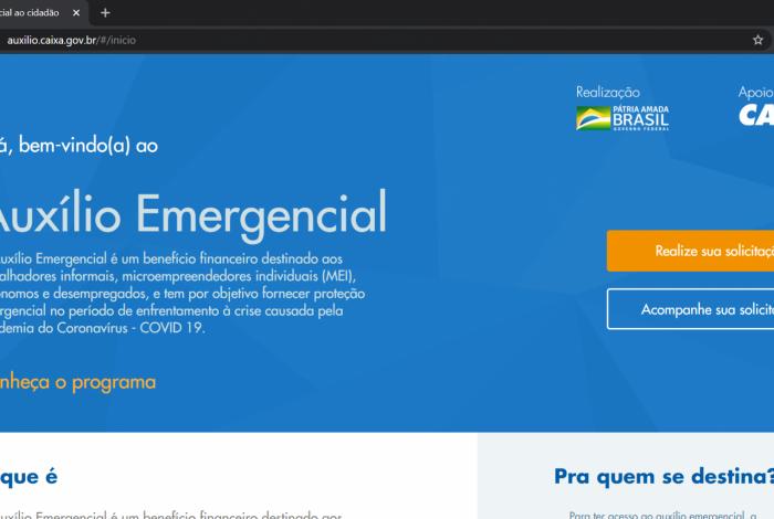Aplicativo para cadastro dos informais ao auxílio emergencial de R$ 600