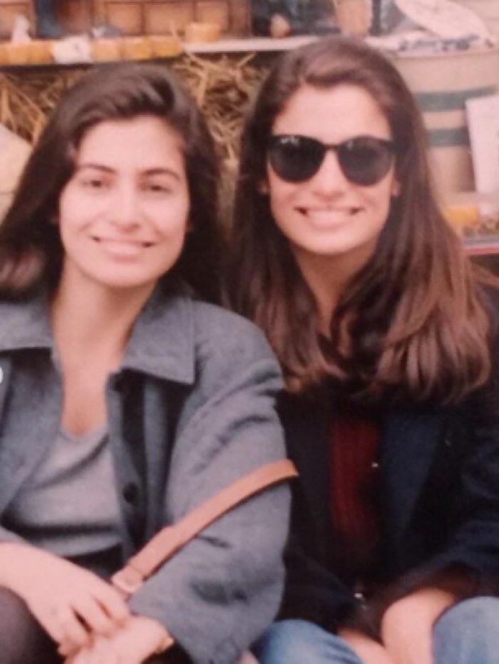 Renata Vasconcellos e irmã