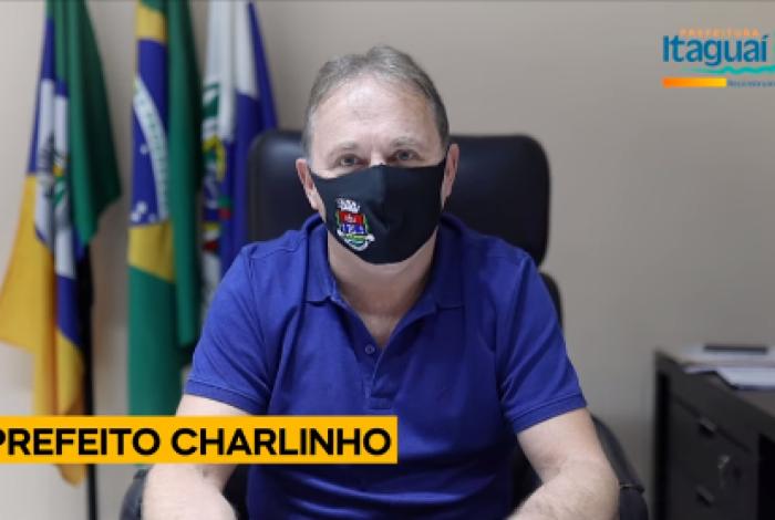 Em vídeo, Charlinho diz que pagamento antecipado é em agradecimento ao empenho dos funcionários públicos em tempos de pandemia