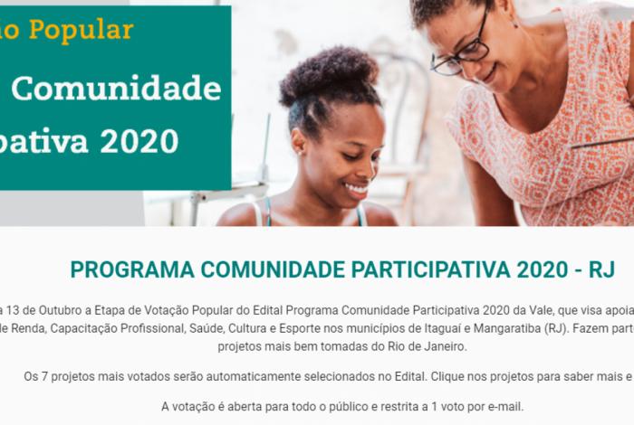 Votação popular vai decidir quais projetos sociais vão receber recursos da Vale em Itaguaí